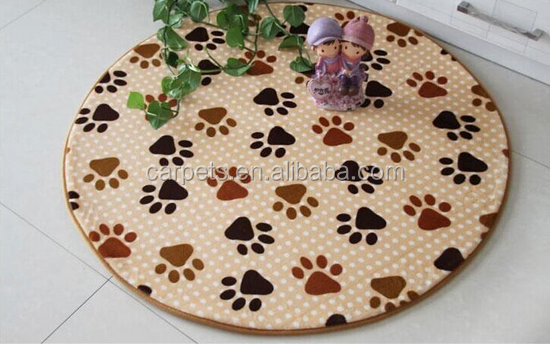 Round Shape Clipping Mat Study Room Chair Simple Pattern Can Be Customize Mat