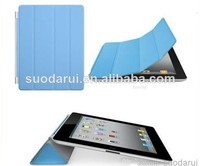 mix colors Cover Smart PU Leather Case for iPad 5 for iPad air Transparent PC Hard Back