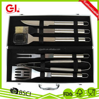 BBQ set 6 pcs Stainless Steel Stow Aluminum Carry Case