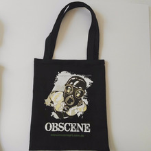 wholesale customized recycled organic black cotton canvas tote bag