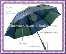 Wind Resistant Golf Air Umbrella with Traveling bag