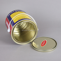 water based paint cans 1-5 liter metal tin can with lid wholesale