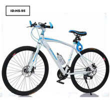 Road Race Bike Fixed Gear Speed Bike 21 Speed Two Disc Brakes 26 Inch 700C Vehicle Male Bicycle