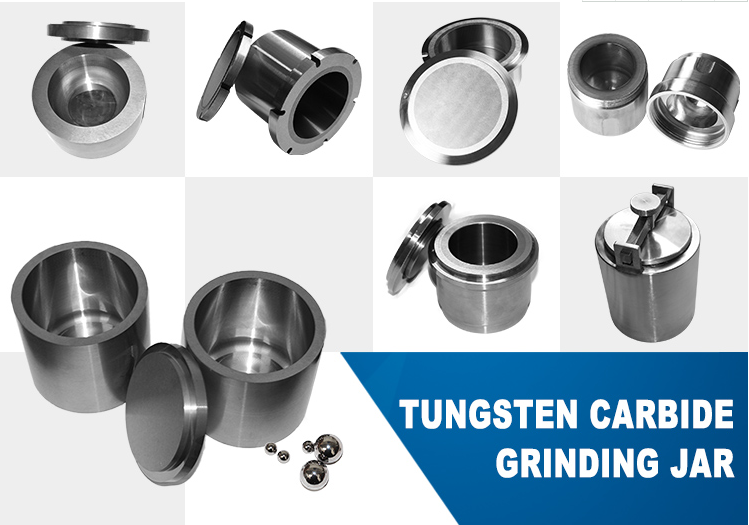 customized different size cemented carbide grinding jar Polished Tungsten Carbide Lab Planetary Ball Mill Grinding Jar