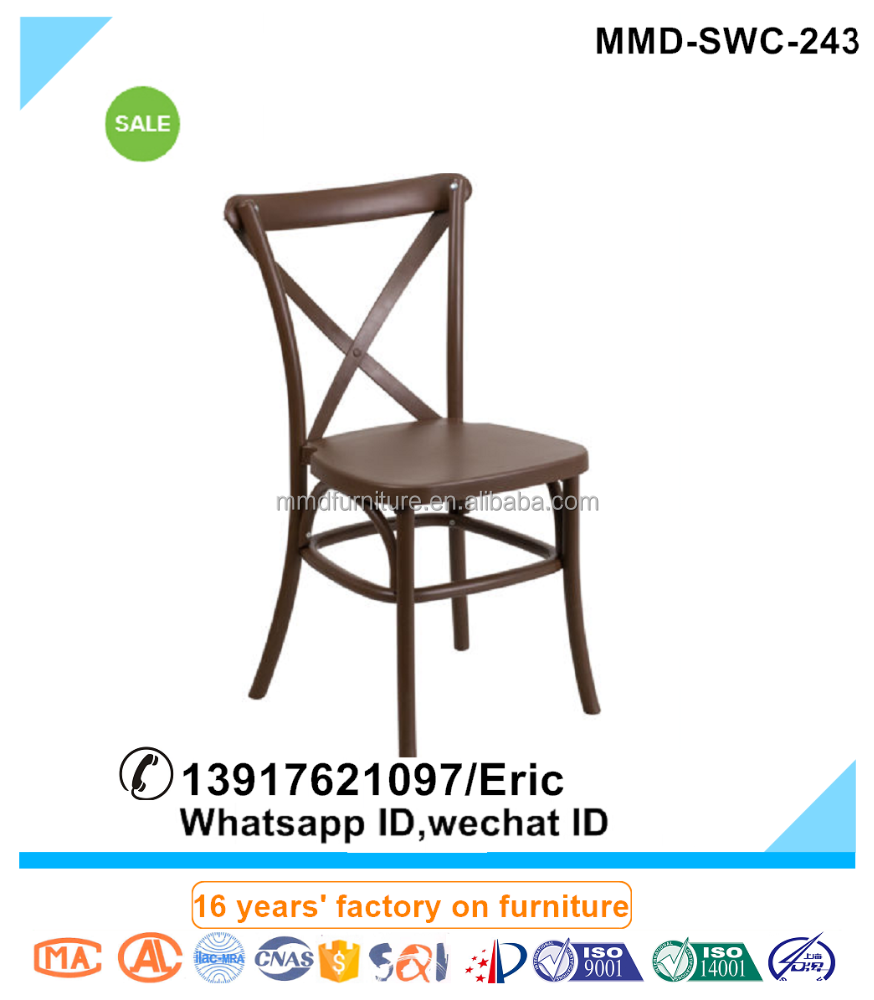 Outdoor Brand New design X Back of three Solid wood simple European design dining cow horn chair
