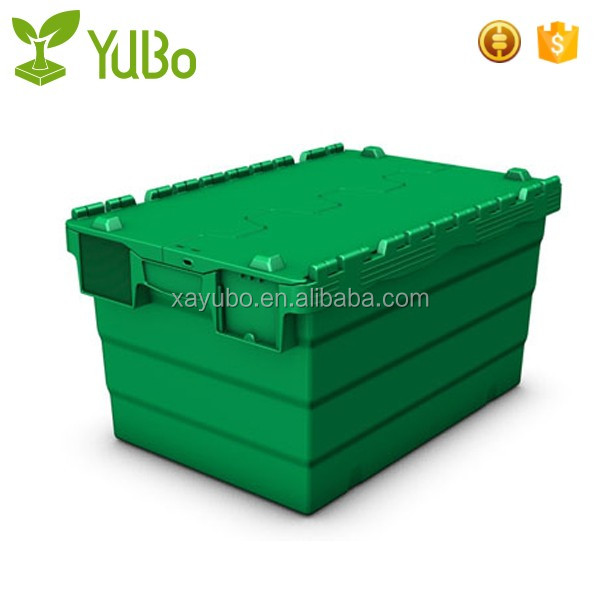 high quality Lid attached plastic container for retail