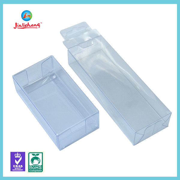 Custom made wholesale clear plastic packaging boxes