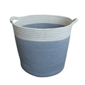 Factory direct dirty laundry basket foldable large bedroom cotton rope storage basket