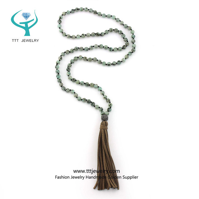 2017 Autumn New Jewelry Design Simple Handmade Tassel Beaded Necklace
