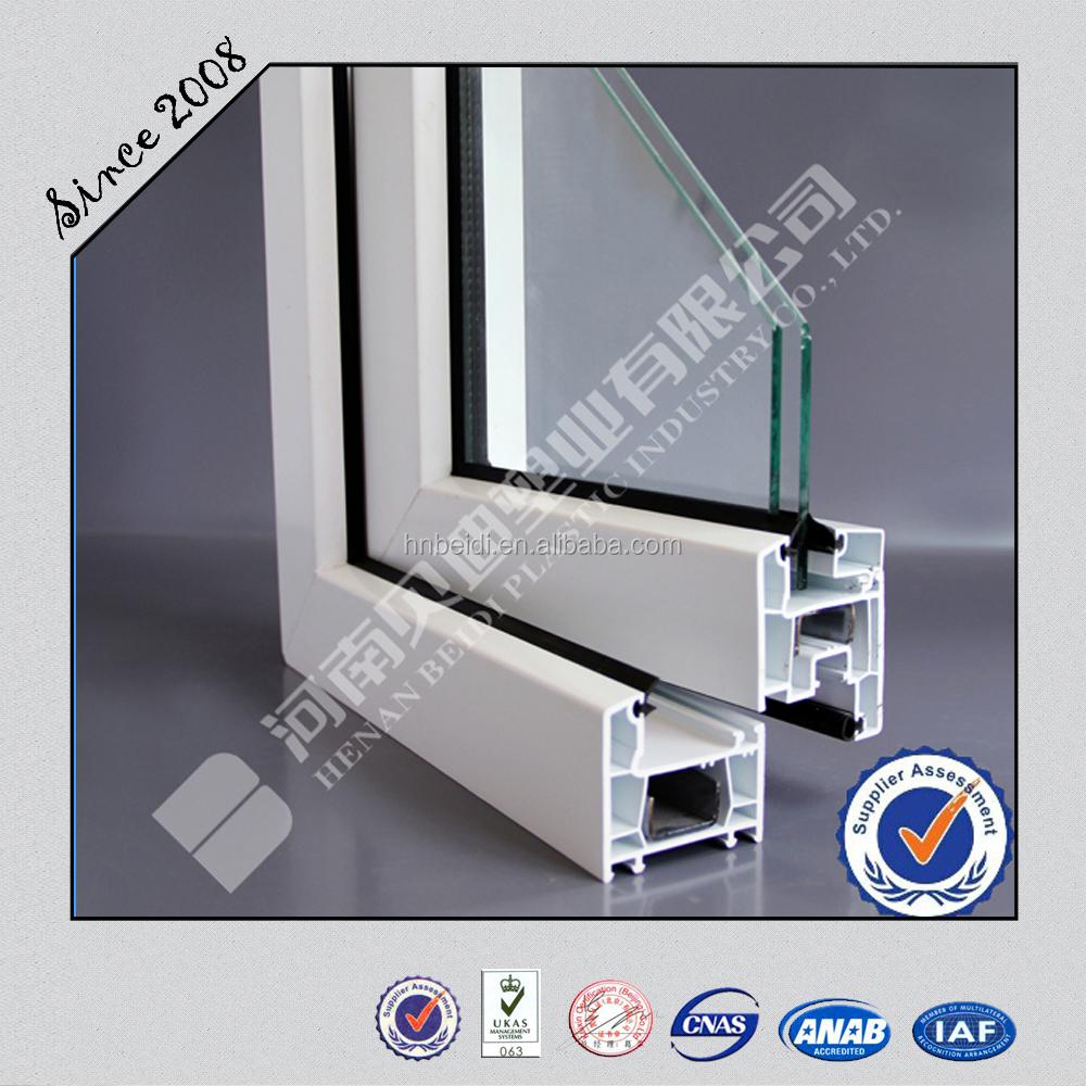 Perfil UPVC para ventana y puerta 65 cinco cámaras buen aislamiento ...