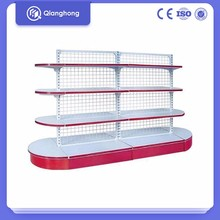 latest cheap stainless steel modern circle supermarket display rack