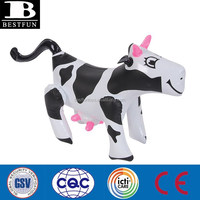 inflatable milk cow toys pvc animals replica toys novelties small blow up toys