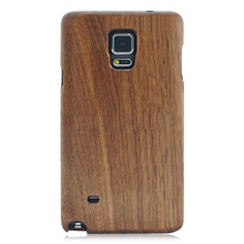 Shenzhen mobile phone accessories wooden case, two parts wood back cover for Samsung note4