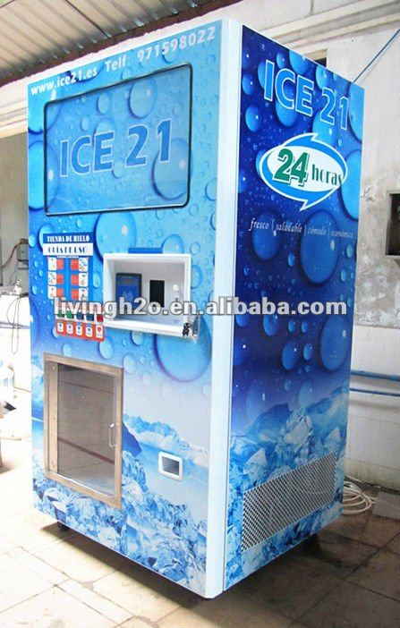 2018 outdoor self service food grade bagged and bulk ice cube vending machine Hot Sale