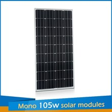 China manufacturer 105W18V aluminium frame poly pv solar panel price