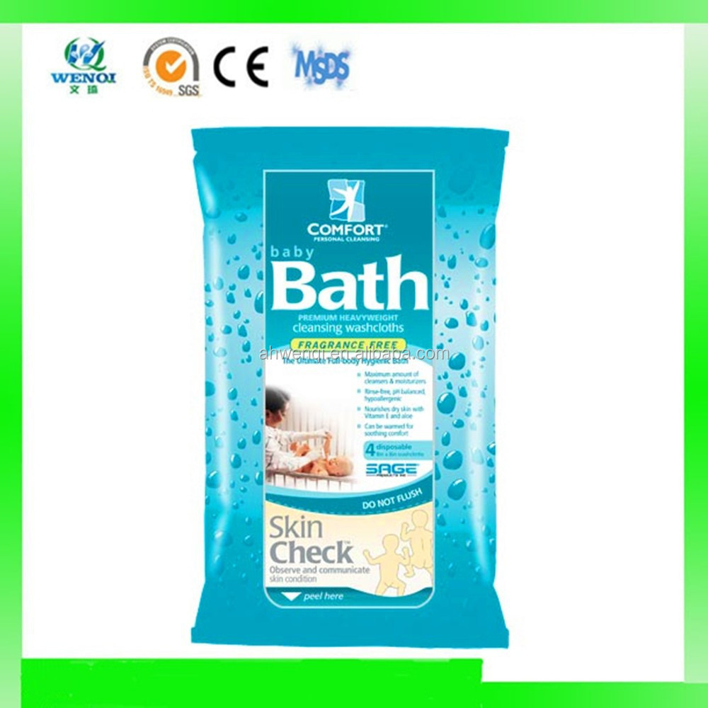 Fragrance free baby bath wipes