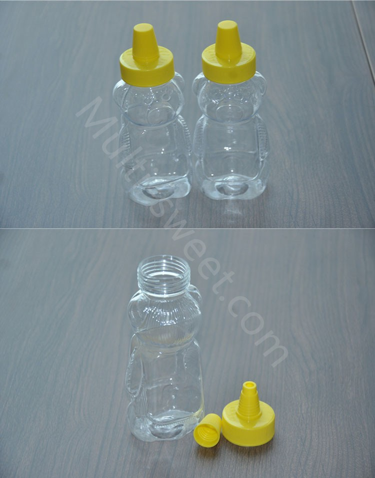 2017 new design storage bottles plastic glass honey jars