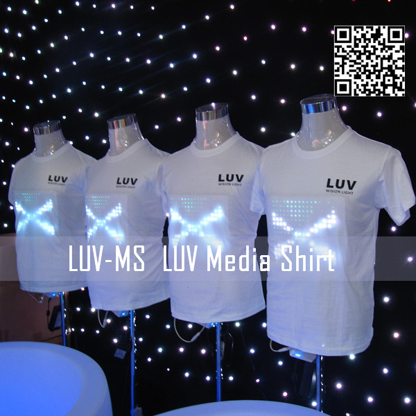 high quality custom led light t shirt /moving sign led advertising display