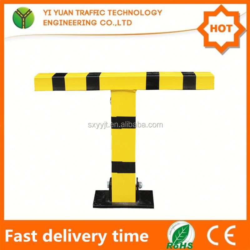 Steel yellow color removable car parking pole