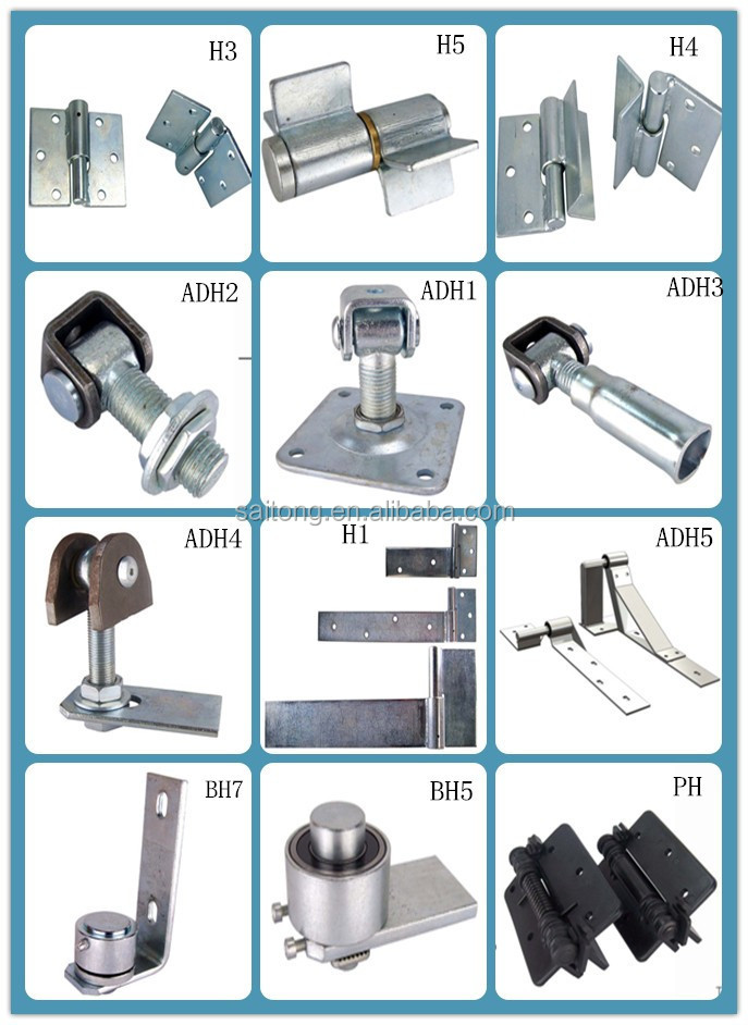 welding Steel barrel tube iron gate hinge