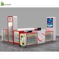 White and red color cell phone store fixtures high end retail mobile phone store interior furniture design for sale