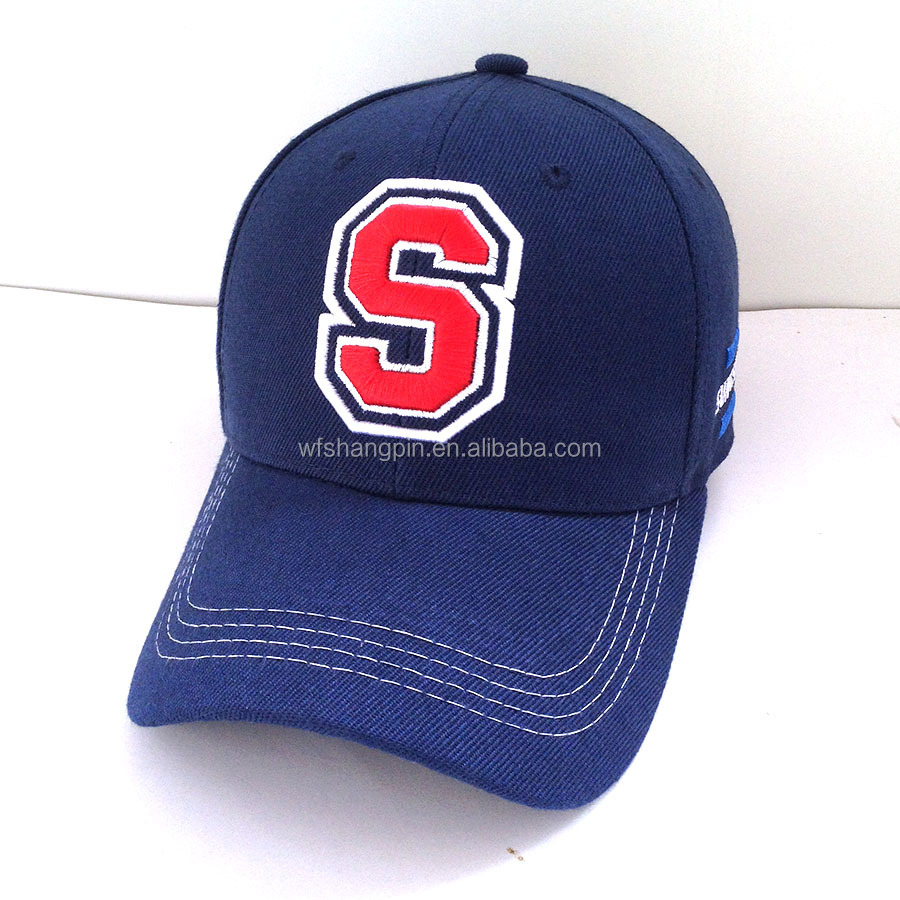 High Quality Promotional 6 Panels Baseball Caps 3D Embroidery Custom Logo Hat