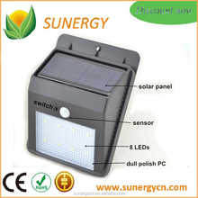 Super Bright Solar Powered 8 led Outdoor Motion Sensor Wall Light On Sale
