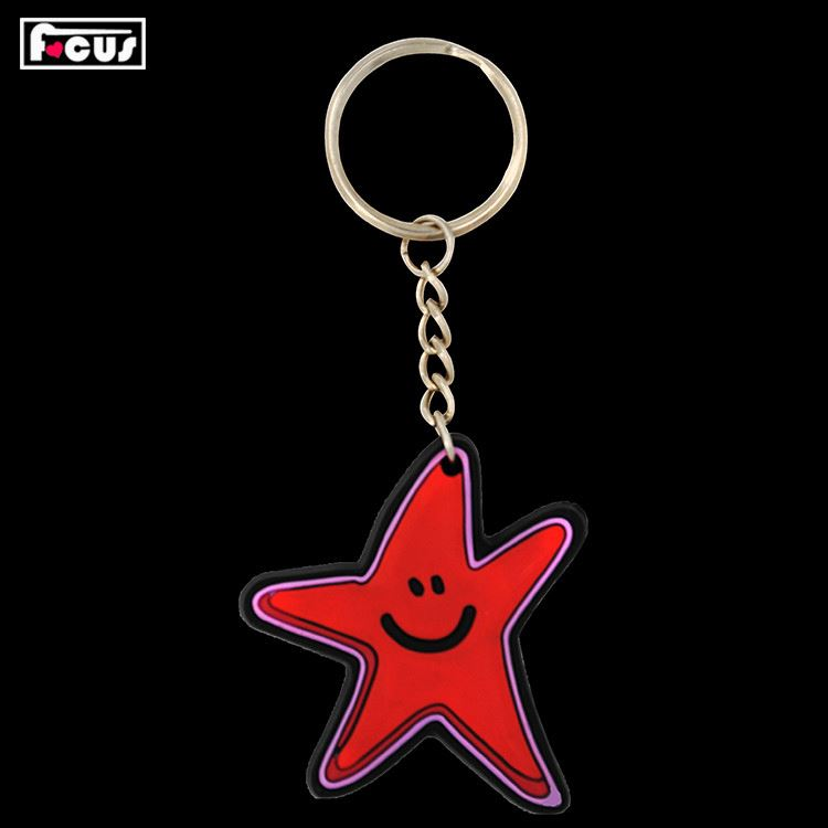Top grade good quality pvc soft rubber christmas keychains manufacturer sale