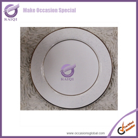 Hotel Wholesale Cheap Bulk China Dinner/Dessert Plates Small White Porcelain Ring Dish Different Shapes White