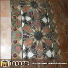 Well polished nice decorative outdoor floor marble medallion