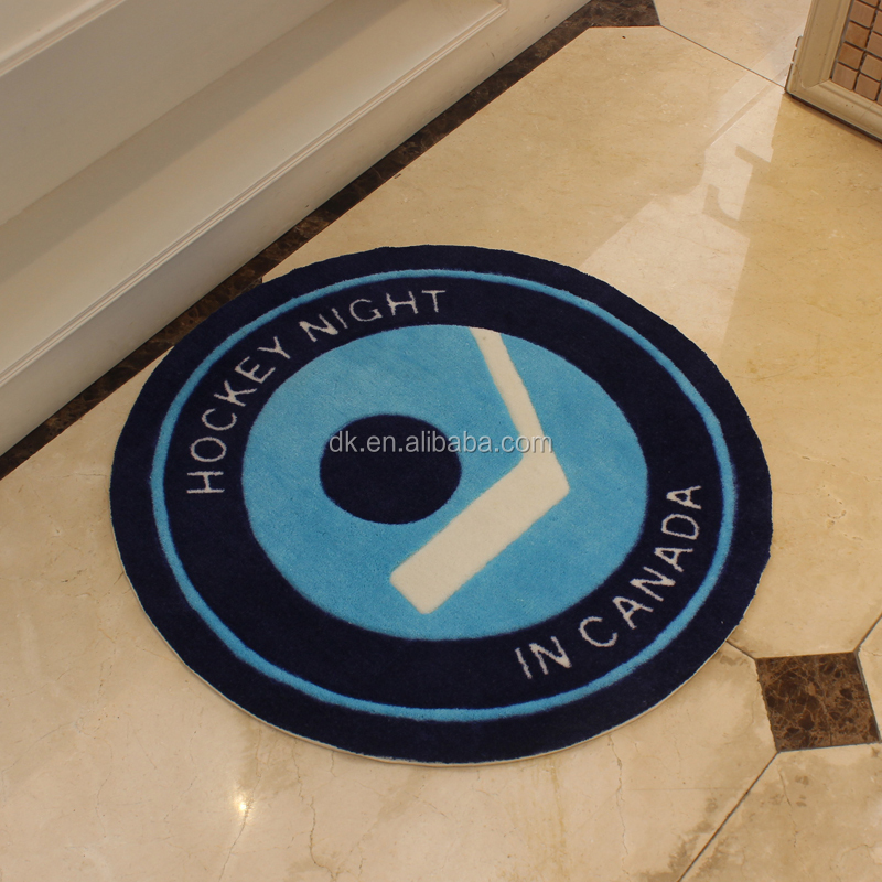 Custom Made Acrylic Round Logo Printing Area Rugs