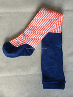 Matching colors striped special cotton high quality cheap kids pantyhose AQD-ST-95