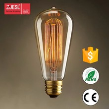 Hot sale ST64 40/60W E27 E26 incandescent edison bulb for home