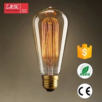Hot sale ST64 incandescent edison bulb 40/60W E27 E26
