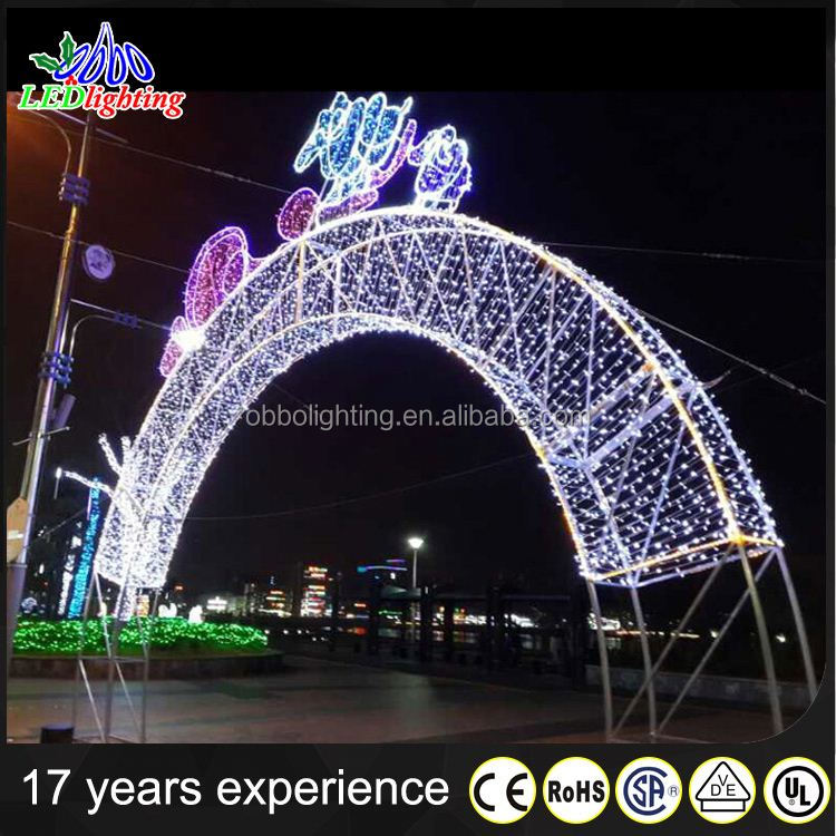 2017 christmas display motif light arches led motif light for street