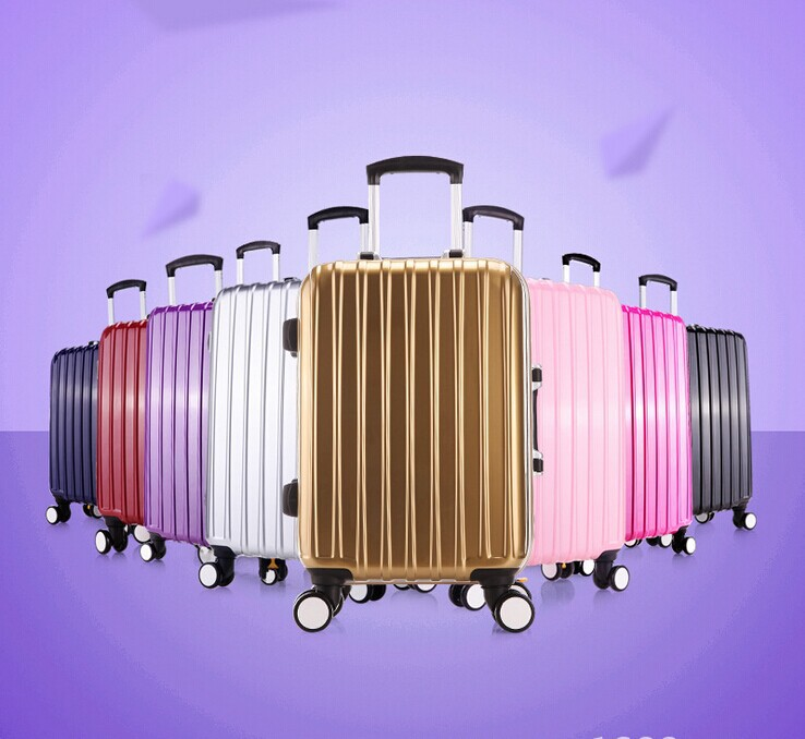 Cathylin 2017 unique carry on travel hard shell airport famous brand ABS trolley luggage set