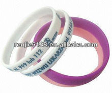 Rubber bands, made of silicone rubber, ideal for promotional purposes, measures 202 x 12 x 2mm