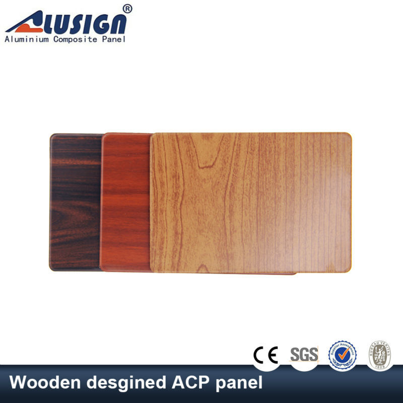 Alusign insulated wooden colours aluminum composite panel (acp)