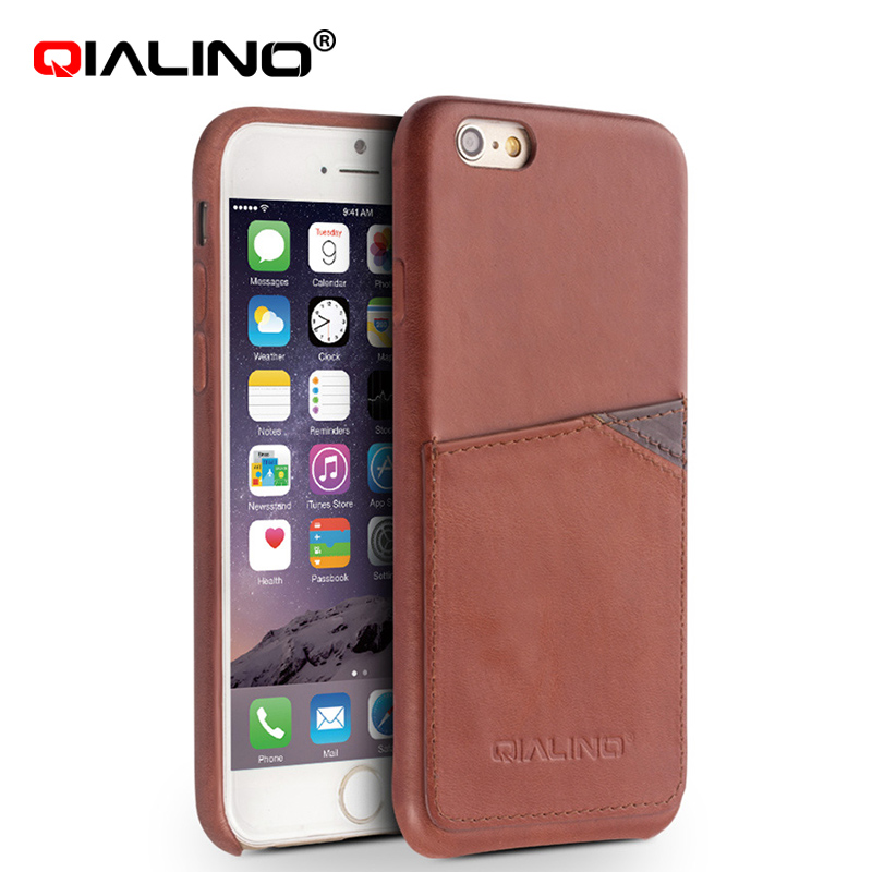 QIALINO Make To Order Top Layer Leather Crazy Horse Case For Iphone 6S