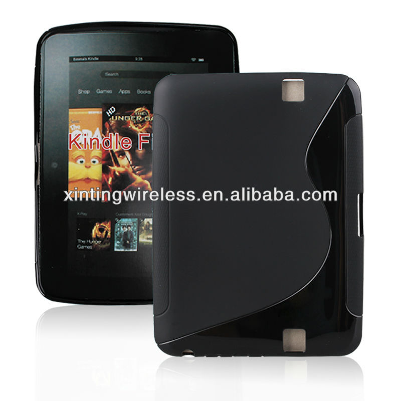 Black TPU Gel Case Skin Cover for Kindle Fire HD 7 Inch