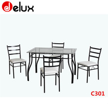 dinning table set with chairs dining room table company school mess hall furniture C301