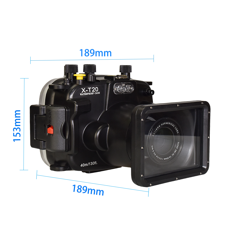 Meikon factory price X-T20  Waterproof Underwater Camera case 130 ft / 40 m, for Fujifilm Fuji X-T20