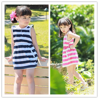 South Cotton Material Kids Stripe Summer Dresses For Girls