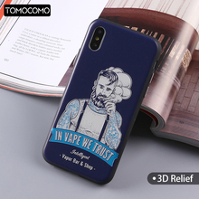 TOMOCOMO Soft TPU Printing Cool Boy Cool Man Cartoon Design Case Back Cover For iPhone5 5SE 6 6plus 7 7Plus 8 8Plus X Fundas