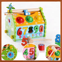 Multi-Function General Digital Tear Open Outfit Wisdom Digital Home Children'S 3d Wooden Puzzle Diy Small Toy House