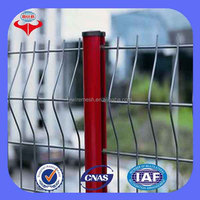 high quality hot sale PVC Coated or powder painting Triangle Bending welded wire mesh fence/fencing