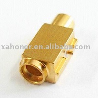 MCX female right angle connector with switch rf connector