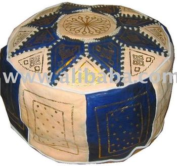 moroccan old fashion pouf leather ottoman buy pouf product on. Black Bedroom Furniture Sets. Home Design Ideas