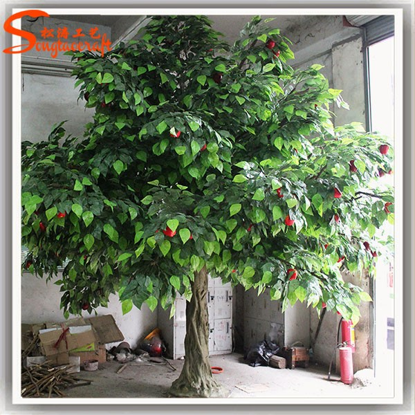 fake apple tree Indoor decorative large plastic apples for sale home evergreen fruit trees