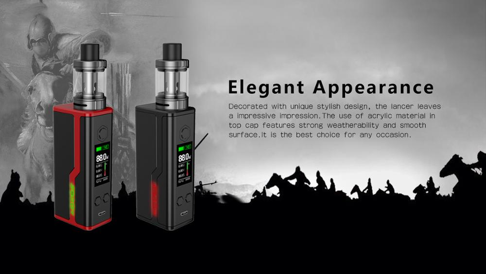 Sbody Lancer single 18650 Mod 2017 88w mod Wholesale electronic cigarette instock